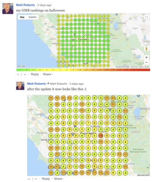 mapa wizytówek w google