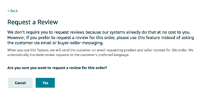 request a review na amazonie