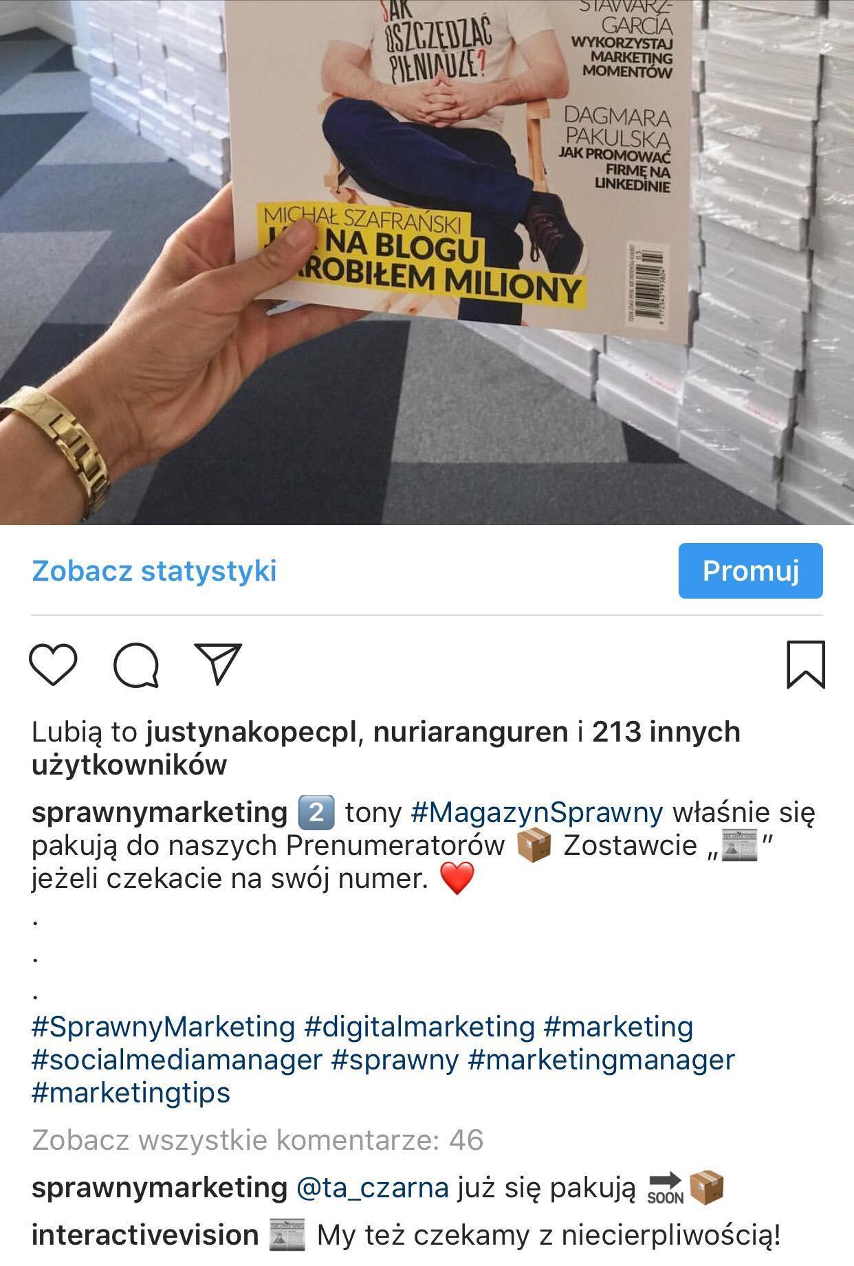 angażujące posty instagram