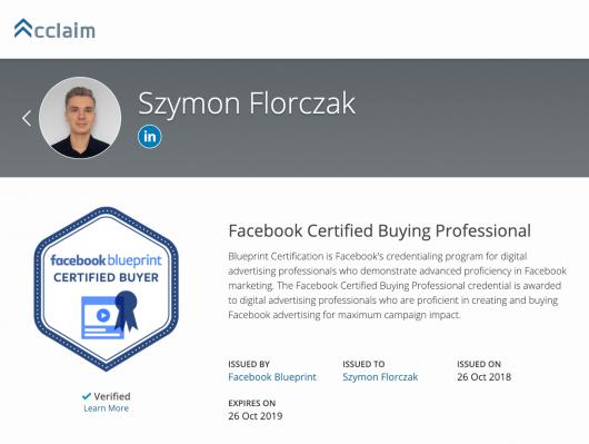 jak zdobyć certyfikat facebooka