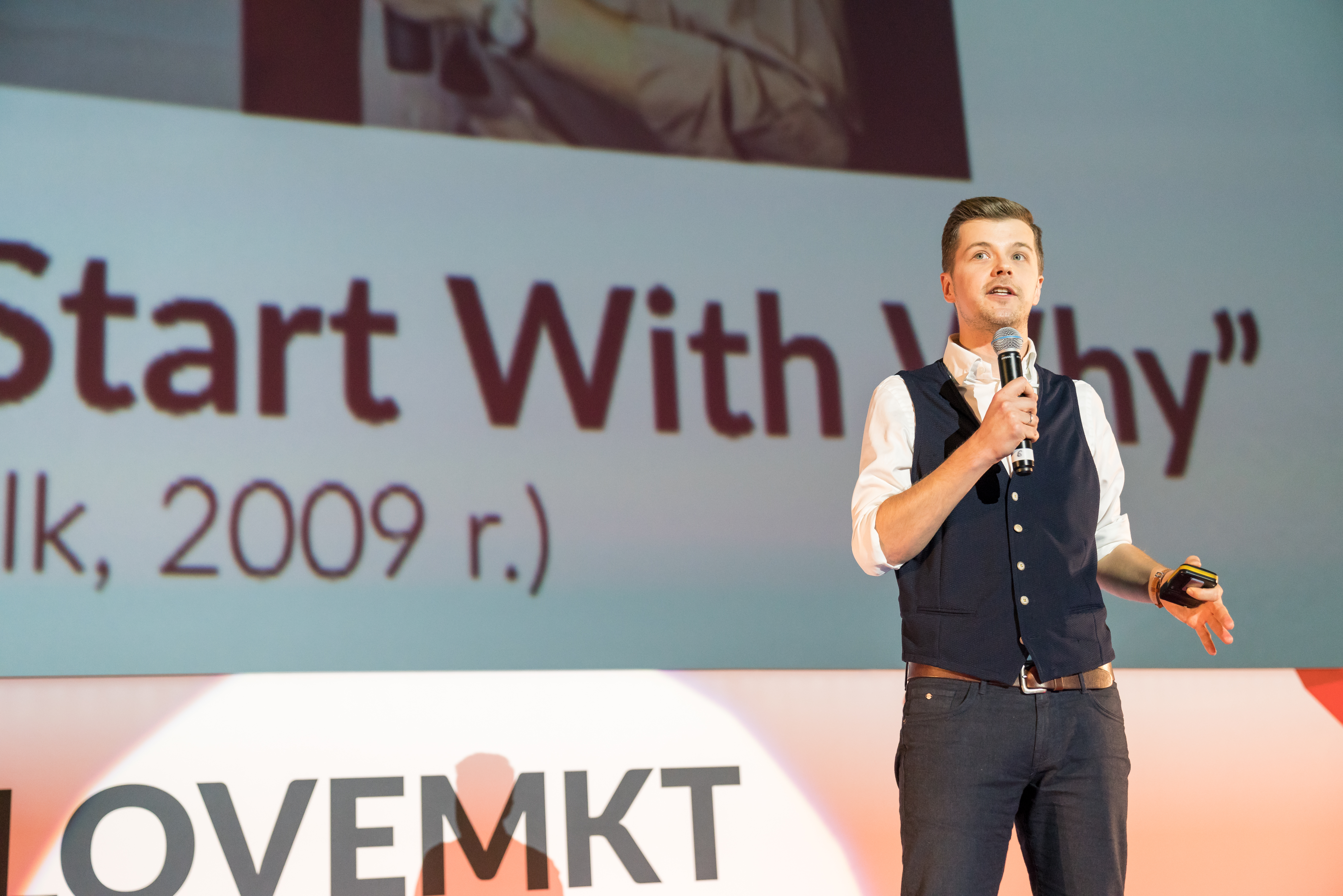Radek Kotarski na konferencji I Love Marketing