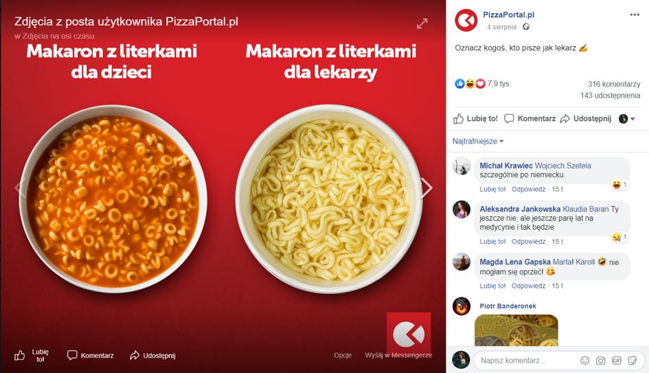 pizza portal makaron dla lekarzy