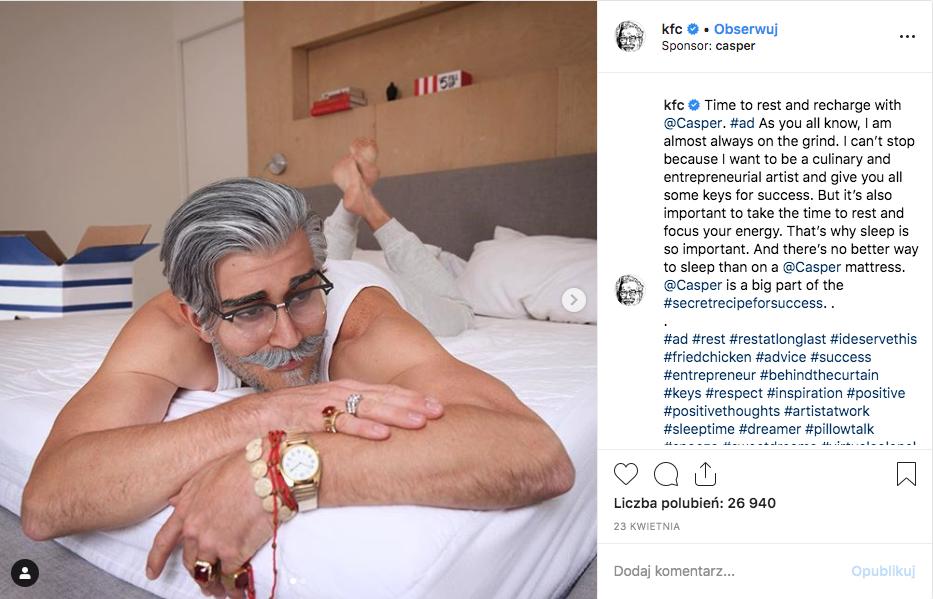 Pułkownik Sanders wirtualny influencer