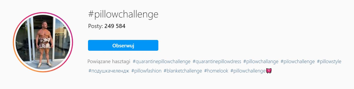 pillow challenge instagram