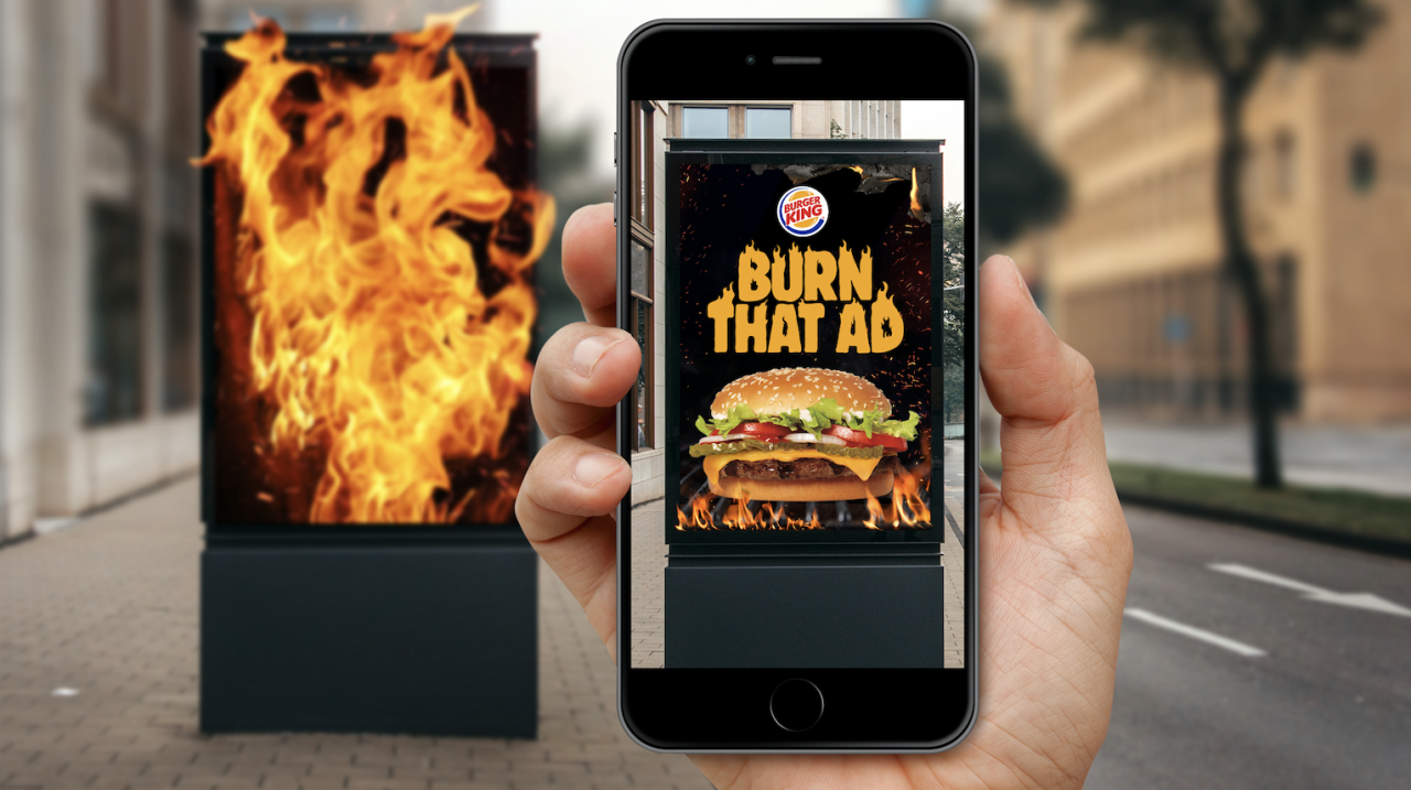 Burn that ad Burger King