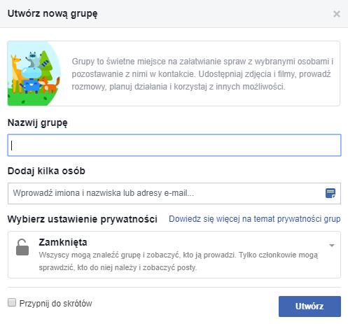 jak stworzyć grupę na Facebooku