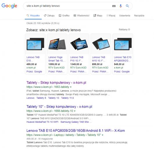 podstrona w google