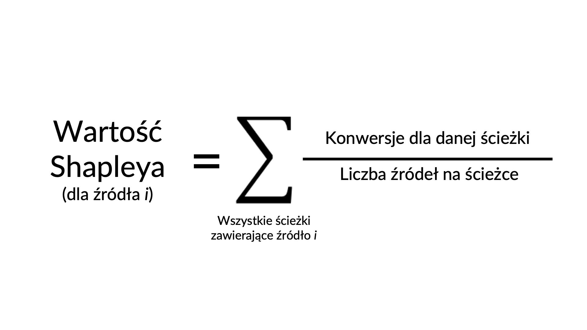 wzór na wartość shapleya