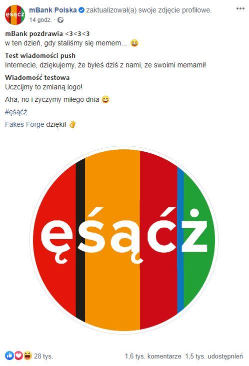 ęśąćż mbank zmiana logo