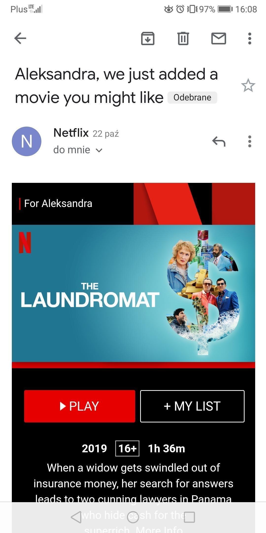kampania email netflix