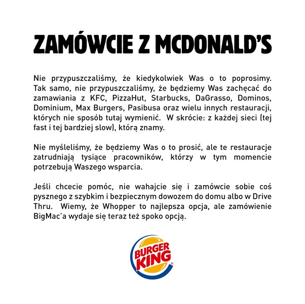 zamówcie z mcdonald's