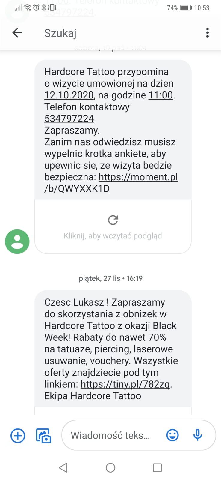 personalizowana wiadomość sms