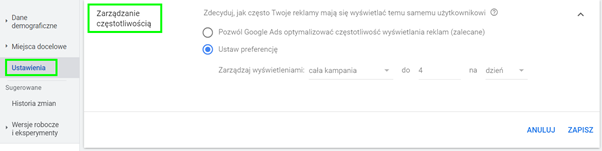 capping google ads