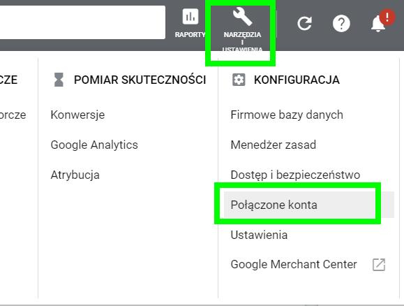 narzędzia i ustawienia google ads