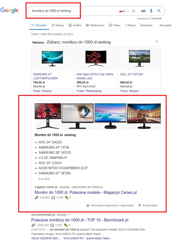 direct answer w google